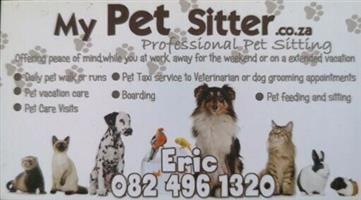 Professional PET Sitting  Offering peace of mind while you at work away or holiday Pet Grooming etc