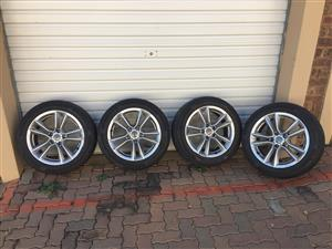 Used Audi A4/A5 set tyres and rims for sale