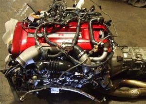 JDM NISSAN SKYLINE GTR RB26DETT R34 ENGINE WITH 6 SPEED GETRAG MT TRANSMISSION