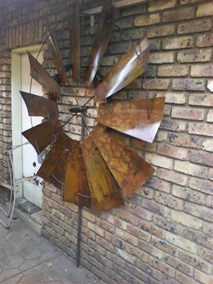 Wall Mounted Windmill Wheels
