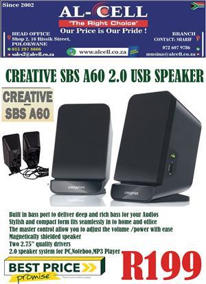 Creative SBS A60 2.0 USB Speaker