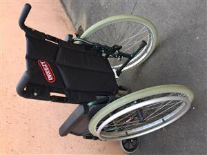 Breezy aluminum wheelchair