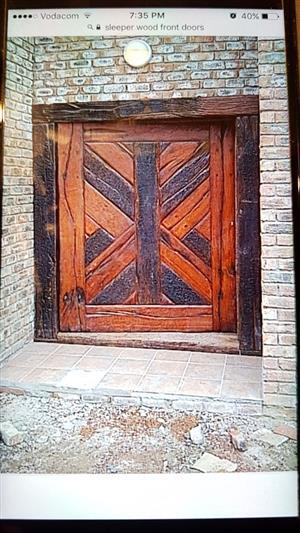 Various sleeper wood doors for sale