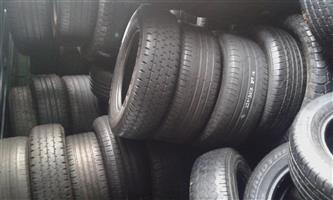 Am selling second hand tyres for all sizes used and in good condition call if your interested