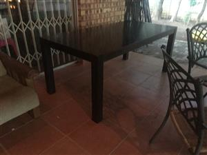 8 seater dining room table with 8 chairs for sale