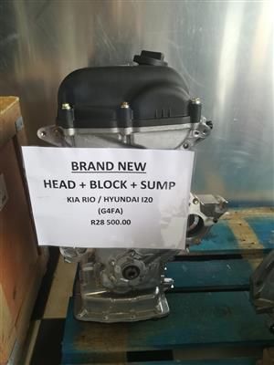 BRAND NEW - HYUNDAI I20 / KIA RIO (G4LA) HEAD BLOCK SUMP