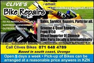 bike repairs/parts/services/sales/import @clives bikes new branch