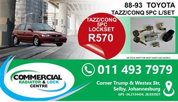 TOYOTA TAZZ LOCKSETS FOR SALE