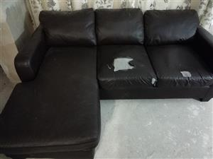 L shape couch and 2 seater couch.