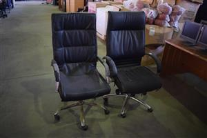 2 High back clack office chairs for sale