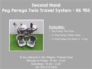 Second Hand Peg Perego Twin Travel System