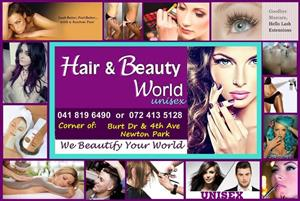 Hair Salon, Nails, Waxing, Make up, Eye Lashes & More!!! Enjoy a Treat. Women, Men, Children...