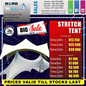 Stretch Tents on sale.