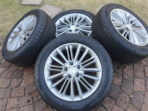 """Hyundai 17"""" mags and tyres"""