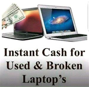 Broken laptops wanted for cash