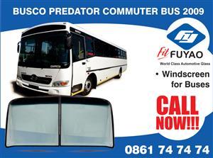 Windscreen for sale for Busco Predator Commuter Bus 2009 #990703 #990704