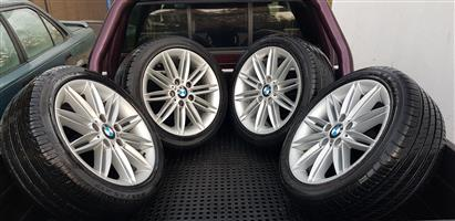 17 BMW OEM Motorsport Mags with Tyres