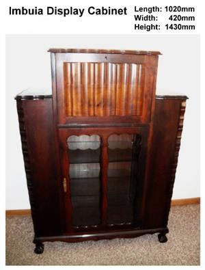 Imbuia Display cabinet
