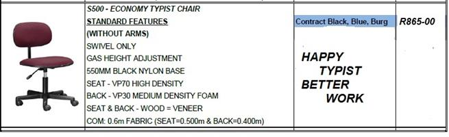 Typist Chair Burgundy Meduim Back(Standard)