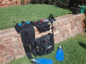 Diving gear. Soft gear with dive bag
