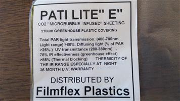 """GREENHOUSE Plastic Covering - Patilite """"E"""""""