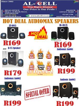 """HOT DEAL"" Audiomax Speakers"