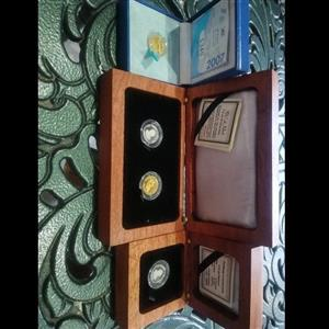 4 Limited Edition Gold/Platinum Coins