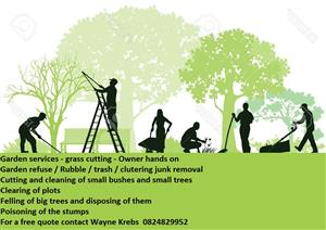 Garden services and tree felling - We do it all quick and effectively