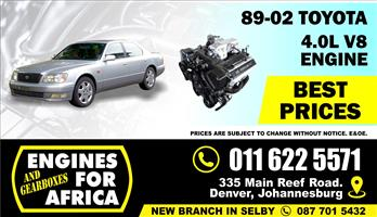 Used Toyota Lexus 4.0L V8 89-02 Engine and Gearbox wiht ECU and  Loom FOR SALE