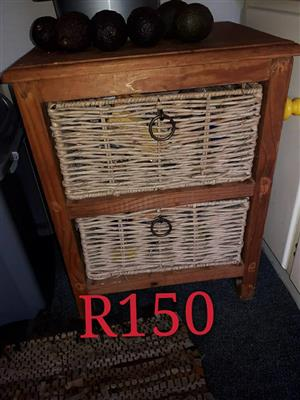 Wooden basket side drawer for sale