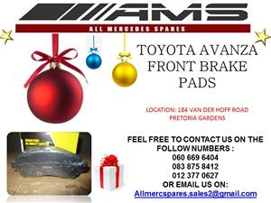 CHRISTMAS SPECIALS !!!! TOYOTA AVANZA BRAKE PADS FOR SALE