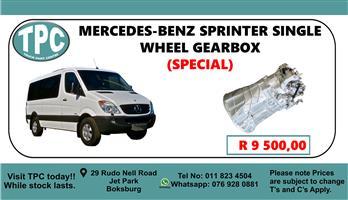Mercedes-Benz Sprinter Single Wheel Gearbox