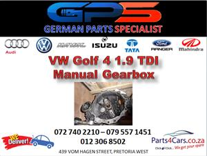 VW Golf 4 1.9 TDI Manual Gearbox for Sale