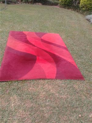 2 x Red Carpets 1.6 m  x  2.3 m lounge / dining room carpets