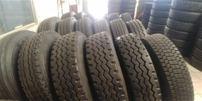 TRUCK TYRES: SECOND HAND,NEW RETREADED AND BRANDNEW TYRES,GUARANTEED,GOOD DISCOUNTS OFFERED