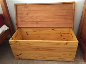 Pine chest or storage boxe
