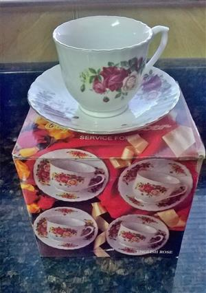 Brand new cups and saucers box set