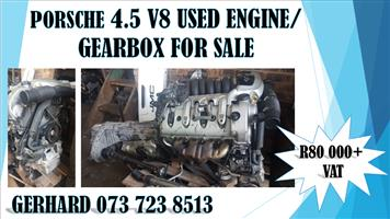 PORSCHE 4.5 V8 USED ENGINE AND GEARBOX FOR SALE