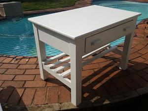 Large white table
