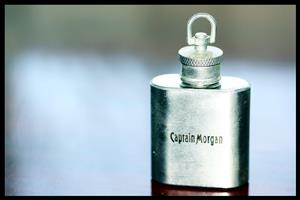 Captain Morgan Stainless Steel 10z Mini Flask