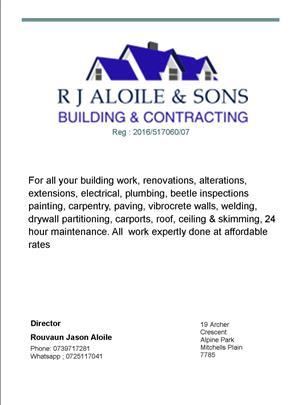 construction & building, building maintenance & repairs & handyman services