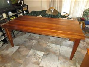 8 SEATER '' KIAAT'' SOLID WOOD DINING TABLE for sale