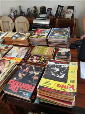 Boxing magazines and books