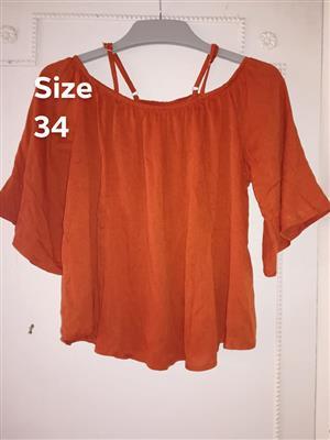 Orange traffic blouse for sale