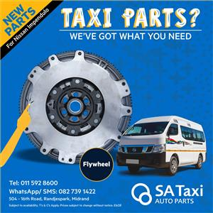 NEW Flywheel for Nissan NV350 Impendulo - SA Taxi Auto Parts quality spares
