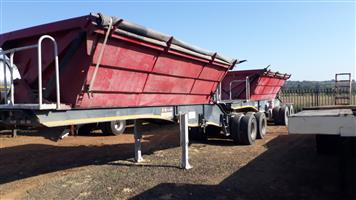 Afrit Chrome side tipper 28 cub trailer