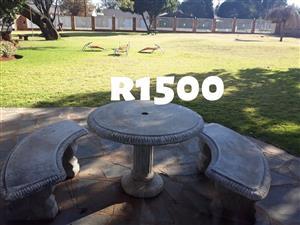 3 Piece cement garden set