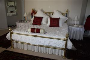 King size yellow copper bed for sale