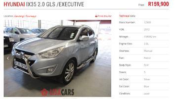 2012 Hyundai ix35 2.0 GLS