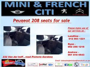 Peugeot 208 seats for sale !!
